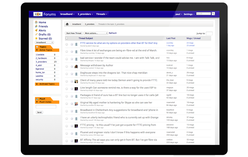 CIX Forums Screen Shot 2